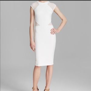 French Connection Viven White Pencil Sheath Dress